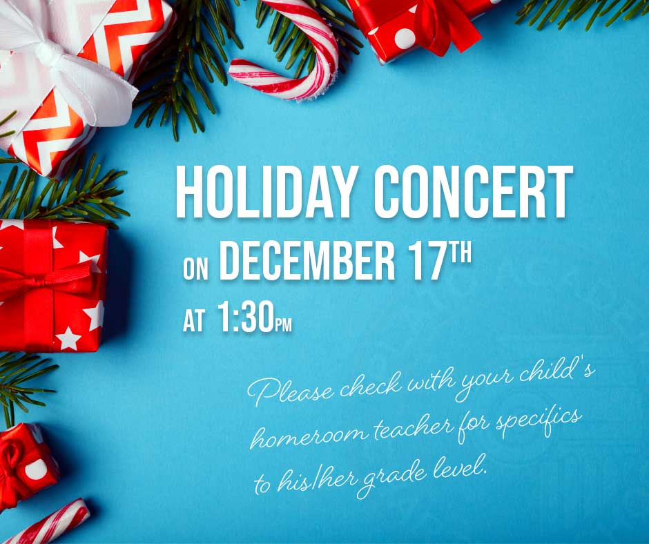Largo Holiday Concert is on December 17 at 1:30pm