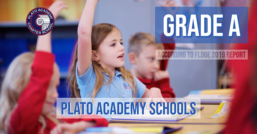 Plato Academy St. Petersburg is graded as an A school for 2019-2020