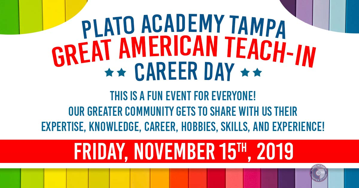 Plato Academy Tampa Great American Teach In 2019 sign up