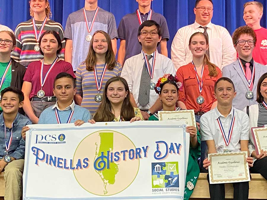 Plato Academy Tarpon Springs students excelled in Pinellas History Day 2020 Competition!