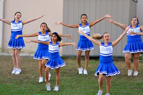 Plato Academy Cheerleading team
