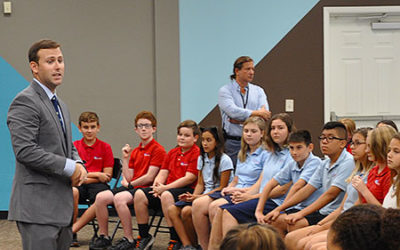 Representative Chris Sprowls visits Plato Academy Tarpon Springs