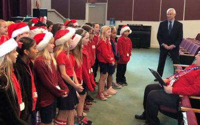 Carols Echoing in Tarpon Springs City Hall