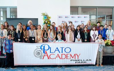Plato Students sing carols at Tampa airport
