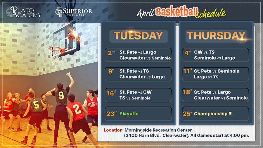 Basketball games schedule - Championship on April 25