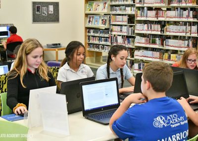 Plato Academy Tarpon Springs students at Clearwater Public Library