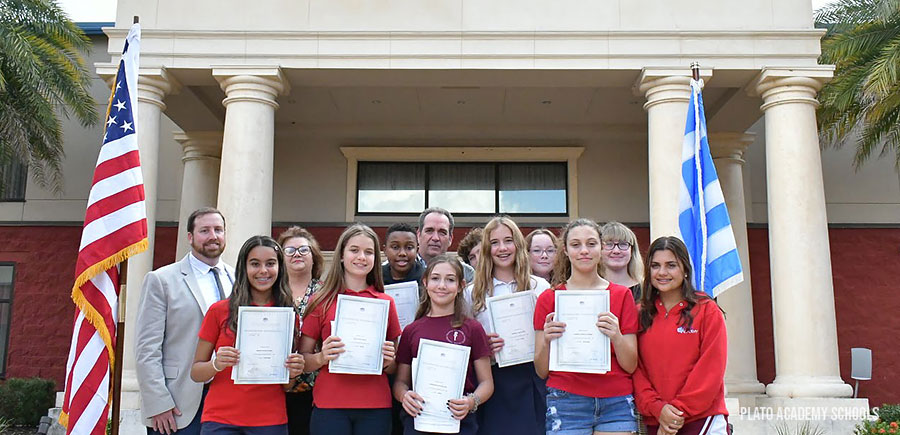 Plato Academy Students Excel in Greek Language Certification