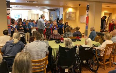 Plato Academy Clearwater students sing carols to seniors