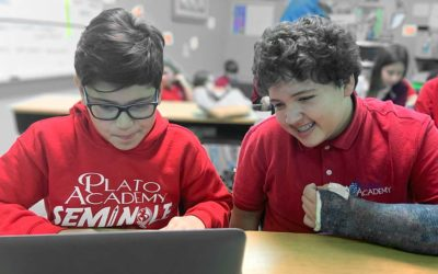 Students learn to code at Plato Academy Seminole