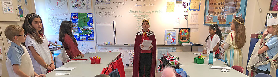Roman characters play in Gifted class