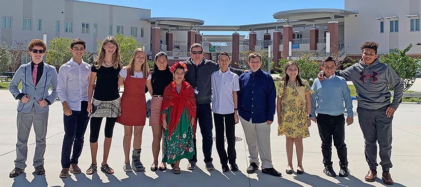 Plato Academy Tarpon Springs NHD 2020 county competition participants