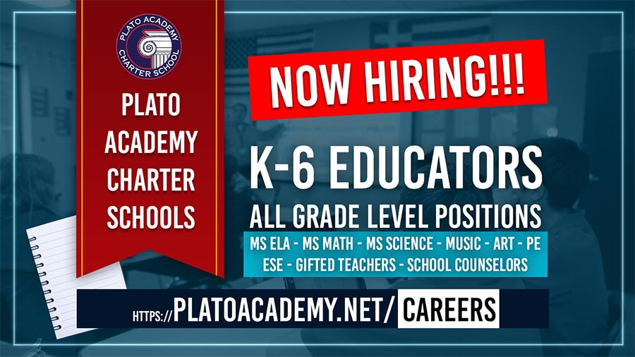 Plato Academy Hiring for 2021
